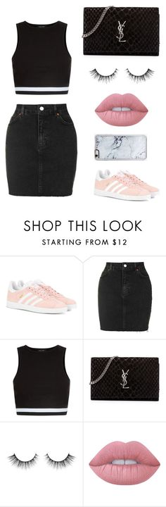 """Untitled #221"" by itsamandarose on Polyvore featuring adidas Originals, Topshop, New Look, Yves Saint Laurent, Lime Crime and Zero Gravity"