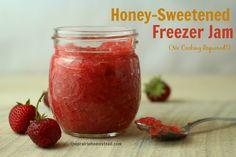 Strawberry Freezer Jam with Honey Recipe | The Prairie Homestead