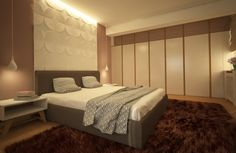 "KiwiStudio | Design interior Apartament T - KiwiStudio ""Panou deasupra patului """