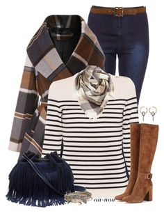 """""""Stripes and Checks."""" by an-nao ❤ liked on Polyvore featuring Chicwish, Saint James, Paige Denim, Gianvito Rossi, Diane Von Furstenberg, BP., Balenciaga and Aéropostale"""