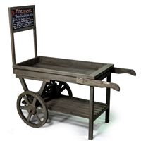 Wooden Display Cart with Chalkboard
