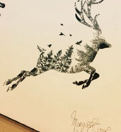 ▷ 1001 + unique and inspiring man tattoo designs - Tattoos - Natur Tattoos, Kunst Tattoos, Bild Tattoos, Cute Tattoos, Body Art Tattoos, Tattoos For Guys, Tattoos For Women, Animal Drawings, Cool Drawings