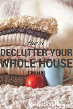 I love to simplify everything. If you want to know how to declutter your whole house, here are my tips. Great Home Organization Tips for getting rid of clutter in your housekeeping schedule. Konmari, Hygge, Planners, Declutter Your Life, Declutter House, Clutter Control, D House, Organizing Your Home, Organising