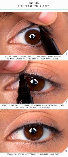 How to tightline your eyes   DIY & Crafts Tutorials