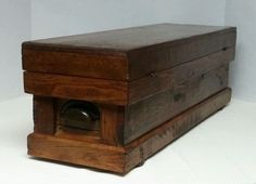 Antique Primitive Oak Wood Carpenters Tool Chest Box Farmhouse Hinged     eBay