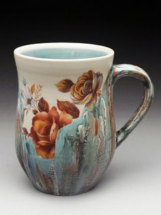 Luba Sharapan Ceramics, Functional Pottery at MudFire Gallery Best Coffee Mugs, Funny Coffee Mugs, Coffee Art, Tea Mugs, Coffee Cups, Pottery Mugs, Ceramic Pottery, Pottery Ideas, Pottery Art