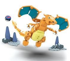On there way soon, the new set of Pokemon Mega Bloks will be out this Summer. The new Mega Construx will feature Charizard and Pikuachu, including others.