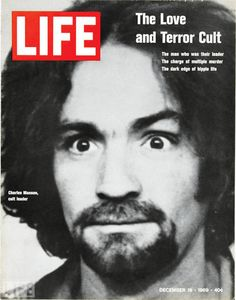 "Charles Manson was the leader of a quasi-commune in Southern California in the late 1960s. In 1969, Manson and members of his cult murdered 3 upper class citizens in order to start a ""race war"". He got the idea from The Beatles White Album, believing the songs were telling him to do so. He was convicted and sentenced to death, but was later commuted to life in prison. He remains  in prison still."