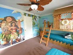 """4 King Beds PLUS Harry Potter Theater, Star Wars, Moana, Frozen. As a recent guest described it, we """"have the best homes for kids in Orlando. Disney Themed Bedrooms, Bedroom Themes, Bedroom Decor, Themed Rooms, Bedroom Designs, Bedroom Ideas, King Bedroom, Girls Bedroom, Girl Room"""