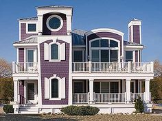 Purple beach house