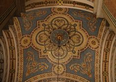 painted  ceilings | medallion painted ceiling design