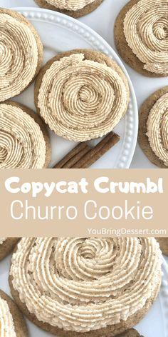 Cookie Desserts, Just Desserts, Cookie Recipes, Delicious Desserts, Dessert Recipes, Yummy Food, Cookie Ideas, Cinnamon Sugar Cookies, Yummy Cookies