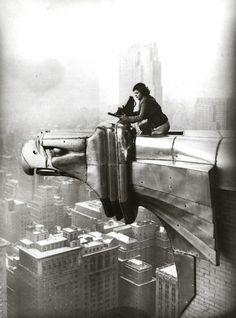 LIFE magazine photographer Margaret Bourke-White, well-known for her images on skyscrapers in the 1920s and 30s, lived in an apartment on the 61st floor of the Chrysler Building. It was on this floor that Bourke-White herself was photographed atop one of the gargoyles in 1934. The lease was co-signed by Time, Inc. because the building wouldn't rent it to a woman, despite her wealth and fame. She paid $387.92 per month to live there, a good amount of money at the time.