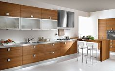 Ideas Hogar, Kitchen Sets, Double Vanity, My House, Kitchen Cabinets, Table, Room, Furniture, Small Kitchens