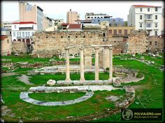 Grecia -.Atenas. Agora Romana y Biblioteca de Adriano