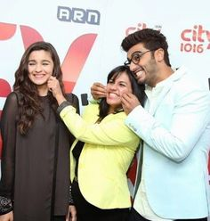 Alia Bhatt and Arjun Kapoor visited the City 1016 studios in Dubai to promote their movie States'. Arjun Kapoor, Star Children, Alia Bhatt, Having A Blast, Bollywood Celebrities, Promotion, Actors, Mom, Couple Photos