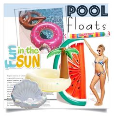 """Fun in the Sun Floats"" by clotheshawg ❤ liked on Polyvore featuring interior, interiors, interior design, home, home decor, interior decorating and poolfloats"
