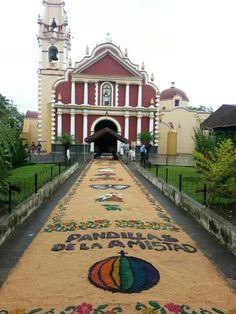 Alfombra, iglesia de San Jerónimo, Coatepec, Veracruz México
