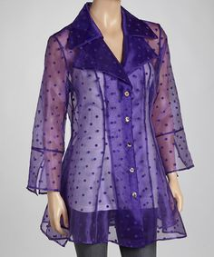 Another great find on #zulily! Purple Dot Jacket - Women & Plus by Come N See #zulilyfinds
