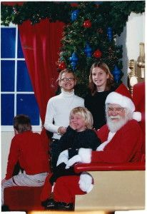 This is the best! Look closely, Stuart backs out on Santa.   Sleigh Me!