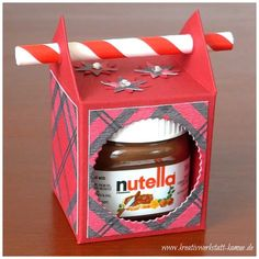 Mini-Nutella-Strohhalm-Box – Kreativwerkstatt