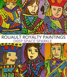 Rouault-Royalty-Paintings using my favorite painting technique.