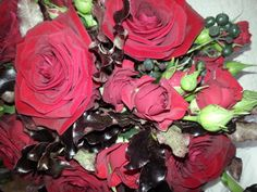 Red and black wedding bouquet. Wedding Bouquets, Wedding Flowers, Rose, Plants, Black, Pink, Black People, Roses, Plant