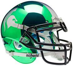 "Michigan State Spartans Authentic College XP Football Helmet Schutt ""Chrome"""