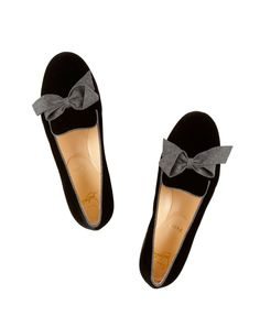 Velvet Bow Slippers / Christian Louboutin