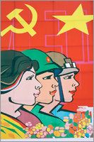Antony Giblin - Colourful communist propaganda poster