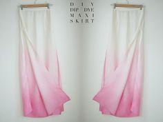 "Basic Dye Tutorial: D.I.Y. Dip-dyed ombre silk maxi skirt from ""LoveLaughLive: Me"" blog (26 Jun 2012)"
