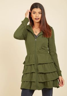 Tier Me Roar Jacket in Olive, #ModCloth