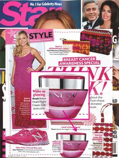 #ThinkPink! #ANEW Vitale Night Cream is featured in @starmagazine's #BreastCancerAwareness special. For every jar of ANEW Vitale Night Cream purchased Avon will donate $5 to the @avonfoundation for Women Breast Cancer Crusade through 10/16, up to $1 million. www.youravon.com/jillcurrie
