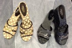 Coach Wedges! - In both black and brown! Size 9 #coach #wedges #consignment #fifislkn #clt  - $48