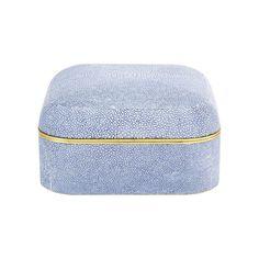 Modern Shagreen Square Box, Blue