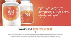 """AM PM Essentials - These capsules have been developed by doctors using cutting edge technology/research to provide a tremendous """"bang for the buck"""" to people desiring to maintain their youth. They are designed to work together as a system. Have a look at the information and if you need more information, please feel free to contact me. I will personally work with you to develop your own youth enhancement system using the available Jeunesse products!"""