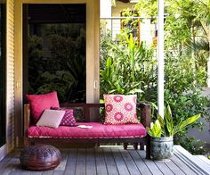 Colourful outdoor furniture