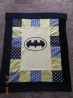 Such a cute baby batman quilt!