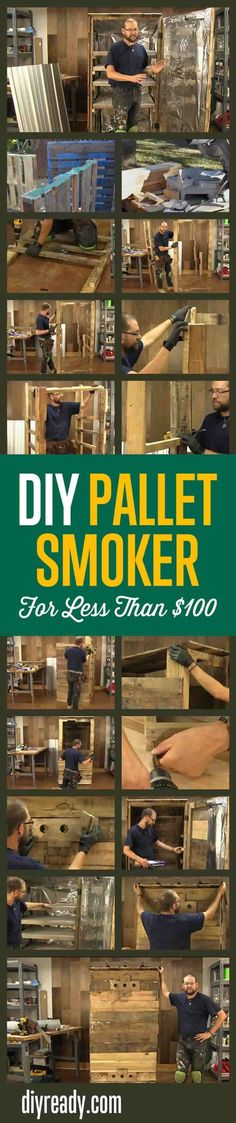 How To Create A Pallet Smokehouse | Easy Plans For Constructing A DIY Pallet Smoker By DIY Ready. http://diyready.com/diy-smoker-pallet-smokehouse/