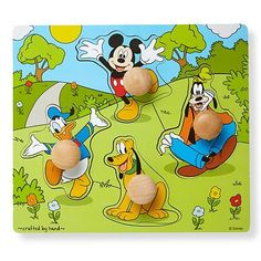 Disney Mickey Mouse & Friends Wooden Knob Puzzle by Melissa & Doug
