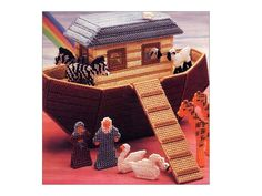 Noah's Ark Plastic Canvas Toy Playset Pattern Animals, Dolls and Ark Toy Annie's Attic