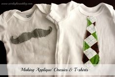 DIY Applique Onesies & T-shirts for your kiddos via Worley House