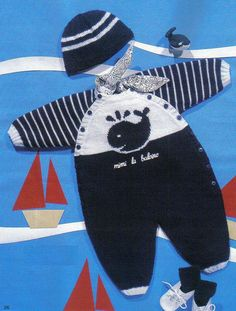 Anny Blatt 2013 In English - 紫苏的博客 - Qoster Baby Sweater Knitting Pattern, Baby Boy Knitting, Knit Baby Sweaters, Knitted Baby Clothes, Knitting For Kids, Baby Knitting Patterns, Baby Sewing, Baby Dungarees, Baby Overall