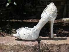 My DIY Wedding Shoes :  wedding antique ceremony classy diy ivory reception shabby chic shoes southern special vintage white 2006 12 31 23.00.00 92