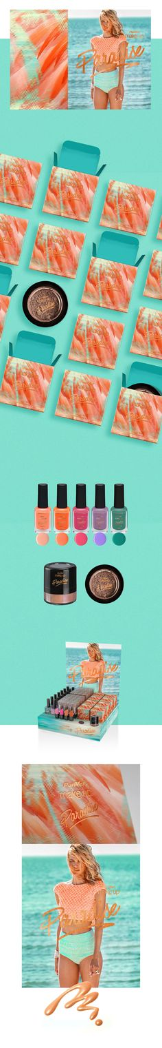 Branding and packaging design for Panvel Make Up Paradise. Project developed at…