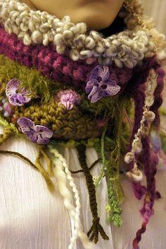 Garden inspired scarf