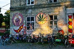 Hippies, drugs & street art: at this lawless commune citizens build their homes on the oceanfront Visit Denmark, Denmark Travel, Copenhagen Travel, Copenhagen Denmark, Cairns, Sunshine Coast Australia, Christiania Copenhagen, Folk Rock, Scandinavian Countries