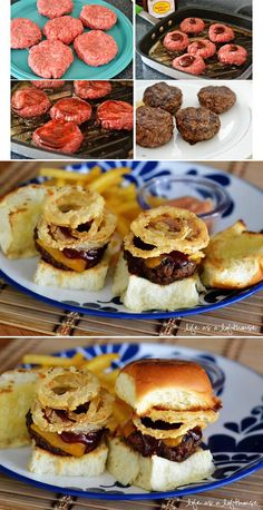 Western Cheeseburger Sliders ***these were a HUGE hit at birthday party** used Kings Hawaiin Rolls! by morecerv. I Love Food, Good Food, Yummy Food, Paninis, Slider Sandwiches, Party Sandwiches, Cheeseburger Sliders, Fingerfood Party, Hawaiin Rolls