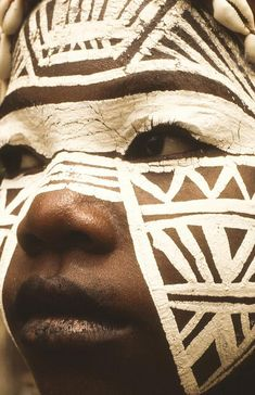 Tribes are very important in Africa, and go back hundreds of years in their history. It is common for tribes to have different clothing and painting on them, here is a picture of just one example.