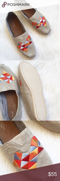 New TOMS Canvas Embroidery Shoes! Brand new! Never been worn! These shoes are gorgeous! I personally love the canvas color/material! The embroidery adds a unique touch! Size 9. Any questions, please ask! Authentic. No trades. Toms Shoes Espadrilles